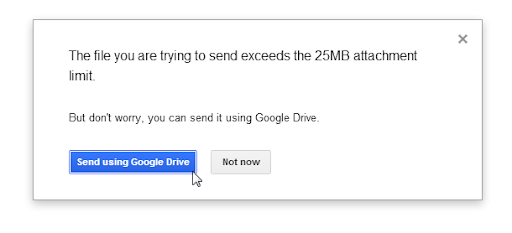 Google email file size limit