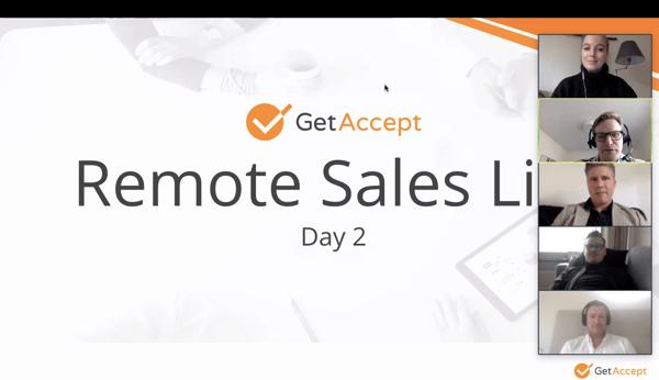 Remote sales at getaccept