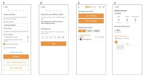 Shareable link steps