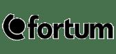 Fortum black logo