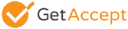 GetAccept logo grey outlined