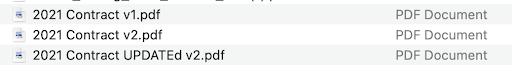 version control files