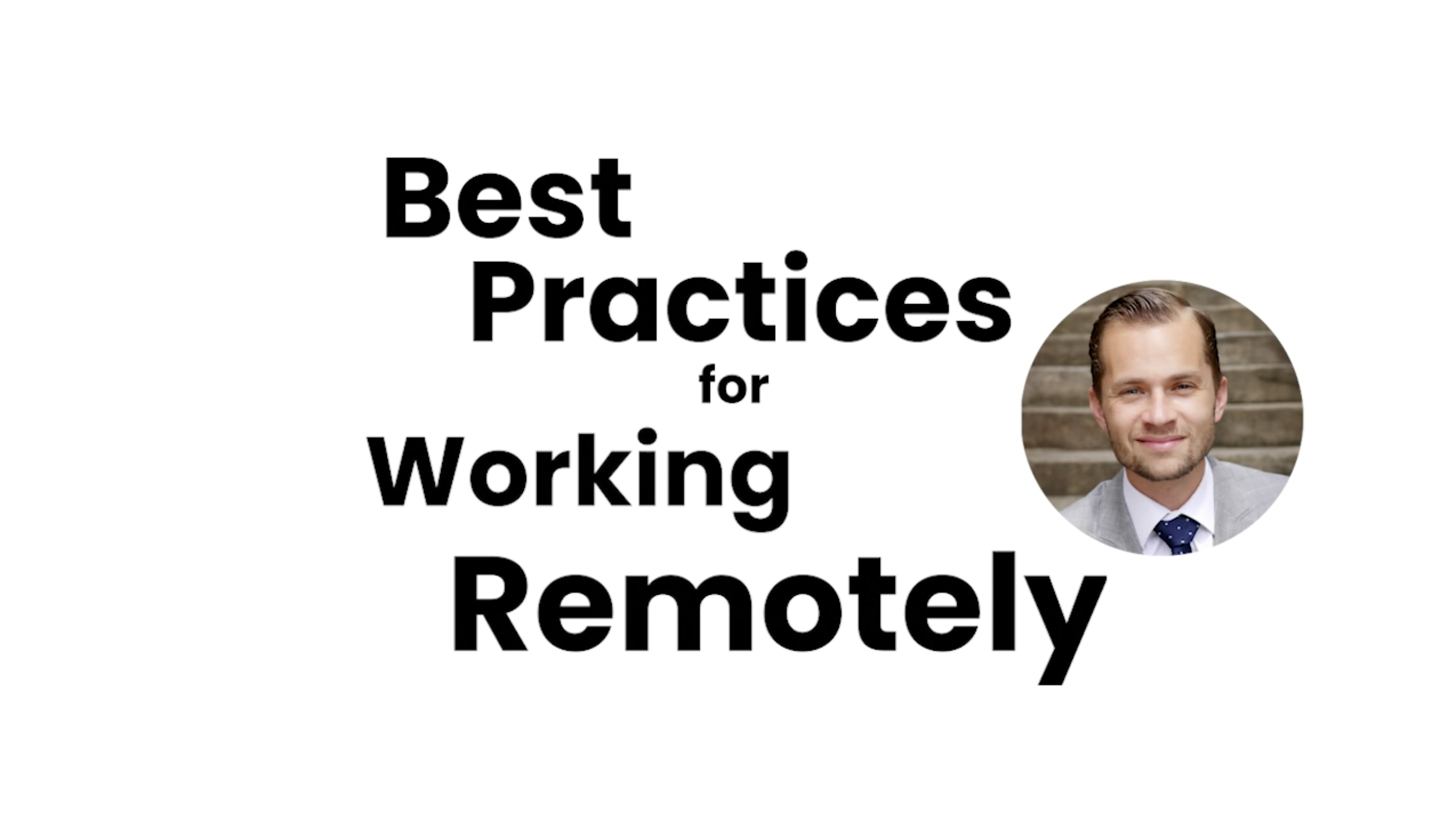 Best practises for working remotely
