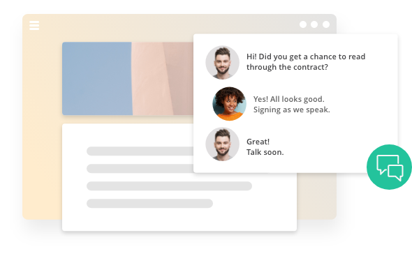 Chat with your prospects about the deal, in the deal.