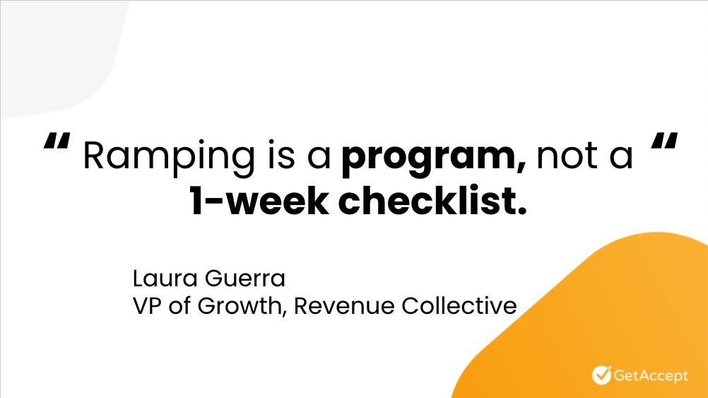 """Ramping is a Program, Not a 1-Week Checklist"""